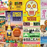 Displaying multiple ads and promos for Cinco de Mayo events and sales